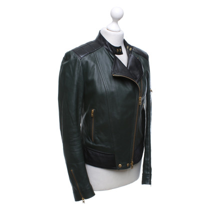 Closed Leather jacket in green / black