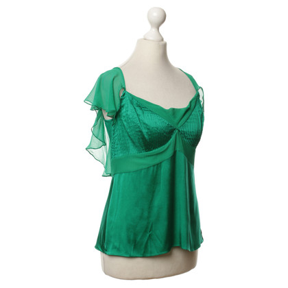 Diane von Furstenberg Green silk top