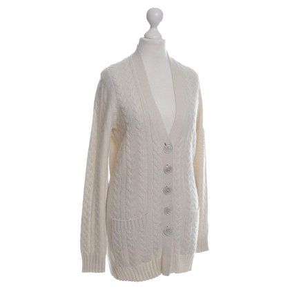 Iris von Arnim Cashmere cardigan sweater in cream
