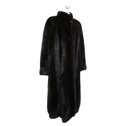 Fendi Mink coat in dark brown