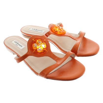 L.K. Bennett Leather Sandals in Orange
