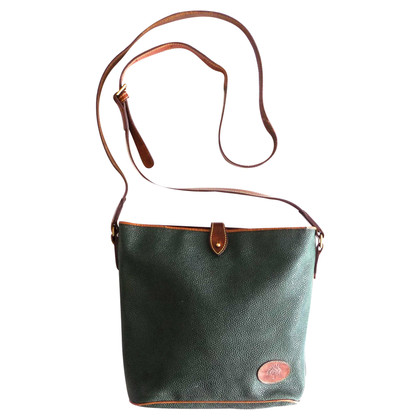 Mulberry Green bag with leather details