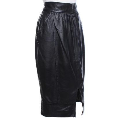 Ferre Leather skirt in black
