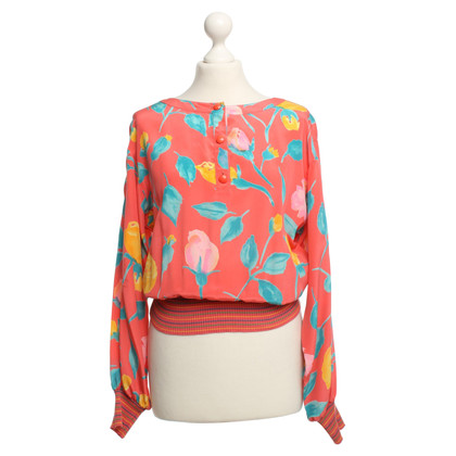 Emanuel Ungaro Colorful silk blouse