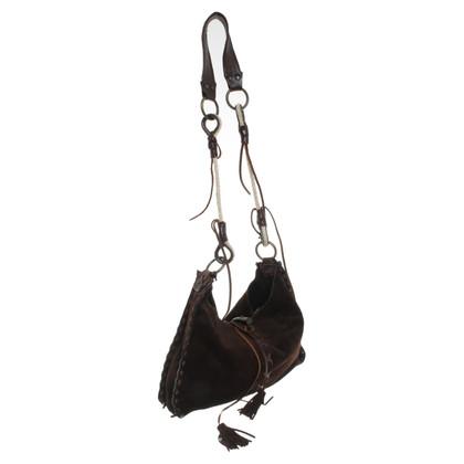 Dolce & Gabbana Schouder tas gemaakt van suede leder