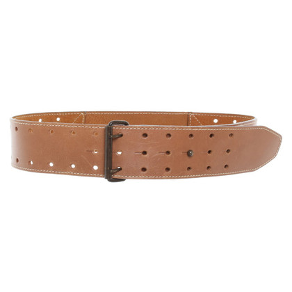 Alaïa Brown leather belt