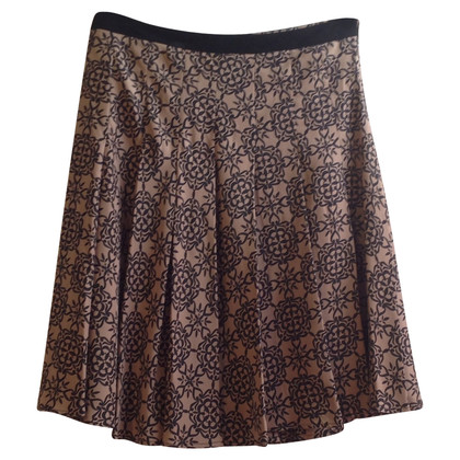By Malene Birger Silk skirt with pattern