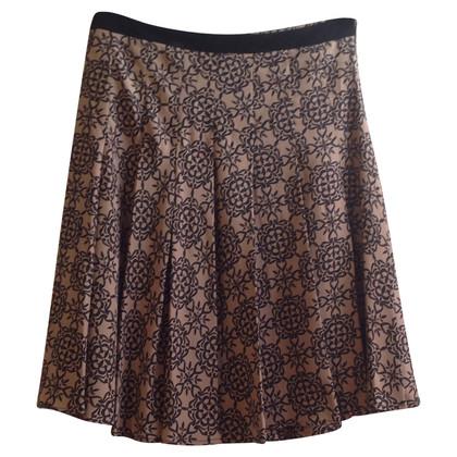By Malene Birger Silk skirt with pattern