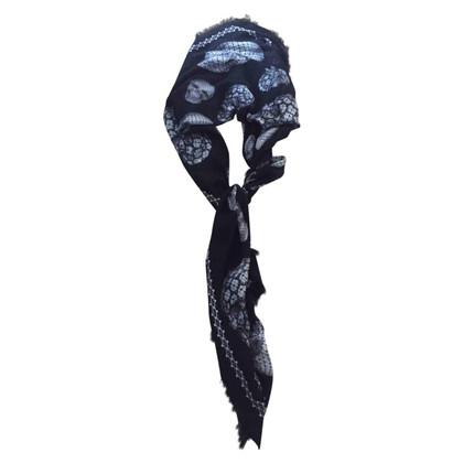 Alexander McQueen Doek met skull and crossbones motief