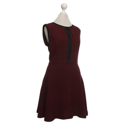 Sandro Dress in Bordeaux / Black