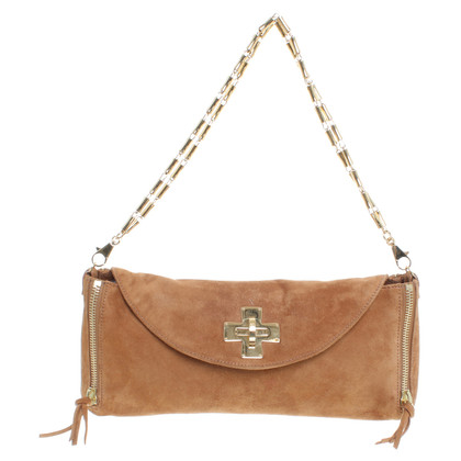 Roberto Cavalli Suede leather bag in Brown