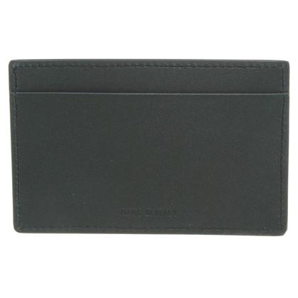 Jil Sander Porta carte di credito in verde scuro