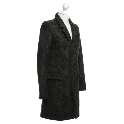 Diesel Black Gold Elegante cappotto in kaki/nero
