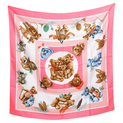 Hermès Silk scarf with teddy motive