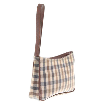 Aquascutum clutch with checked pattern