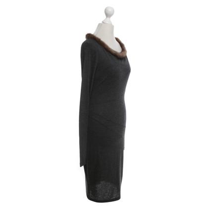 Blumarine Blugirl - abito in maglia di colore grigio