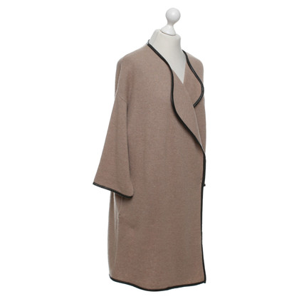 Steffen Schraut Knitted coat in light brown / black