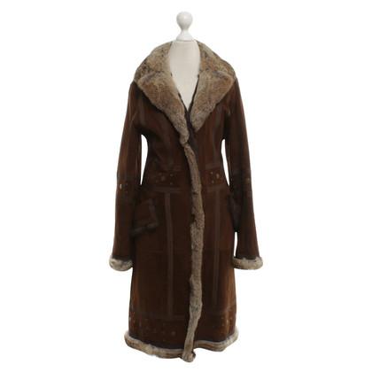 Balmain Fur coat in brown