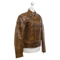 Belstaff Leather jacket in ocher