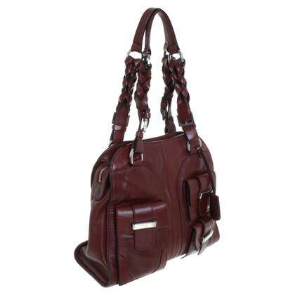 Pollini Leather handbag in Bordeaux