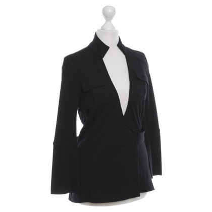 Diane von Furstenberg Wickelbluse in Black