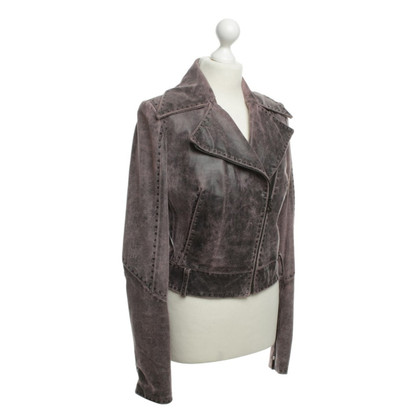 Just Cavalli De gebruikte-look leren jas