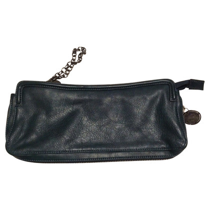 Stefanel clutch in Petrol