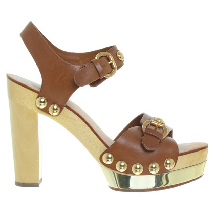 Michael Kors Sandals in Brown/wood