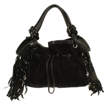 Blumarine Leather handbag with tassels