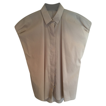 Hugo Boss Kurzarmbluse in Beige