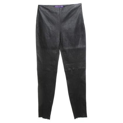 Ralph Lauren Leren broek in zwart