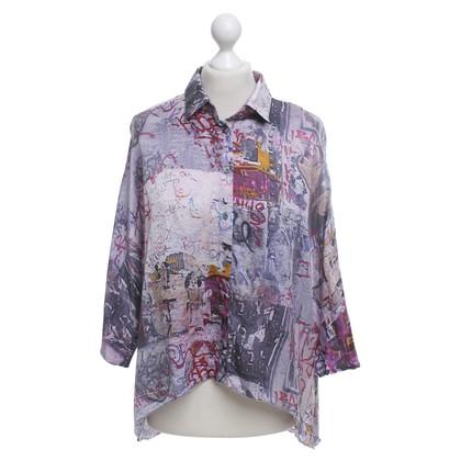 Patrizia Pepe Silk blouse with pattern