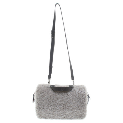 Brunello Cucinelli Shoulder bag with fur trim