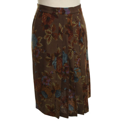 Emanuel Ungaro Wool skirt with floral pattern