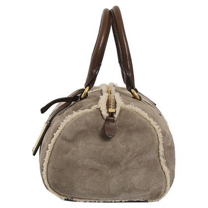 Car Shoe Handtasche aus Lammleder/Fell