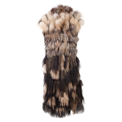 Fendi Fur coat in a patchwork style