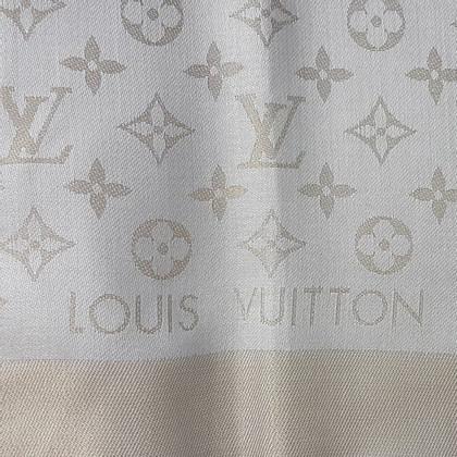 Louis Vuitton Monogram Shine-doek in beige / goud