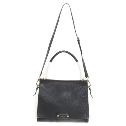 Furla Handbag in black and white