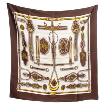 Hermès Sciarpa di seta in tricolore