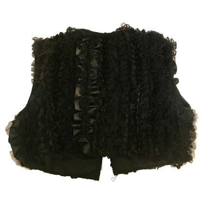 Dolce & Gabbana Dolce and Gabbana black silk waistcoat