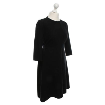 Hugo Boss vestito di lana nera con cintura
