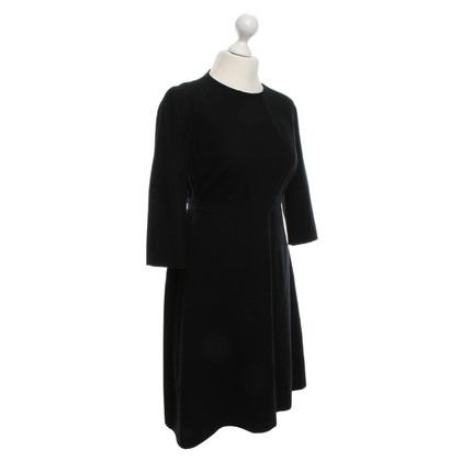 Hugo Boss Zwarte wollen jurk met riem