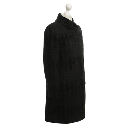Moschino Black coat with patterns