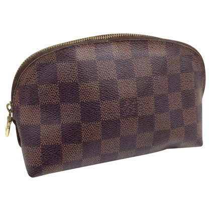Louis Vuitton Make-up tas van Damier Ebene Canvas