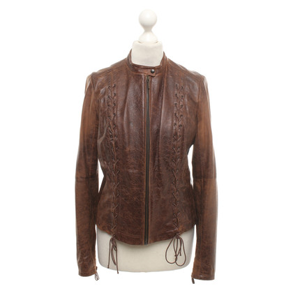 Plein Sud Leather jacket in brown