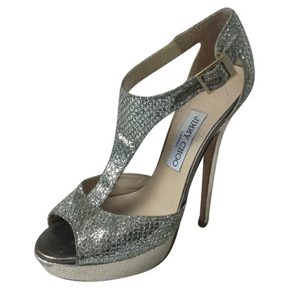Jimmy Choo Sandali in argento
