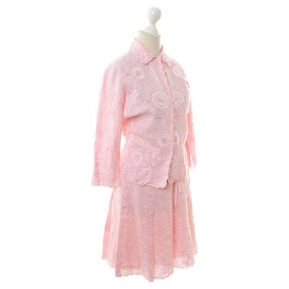 Bogner Linnen kostuum roze