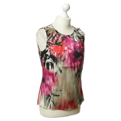 Elie Tahari Top soie avec motif floral