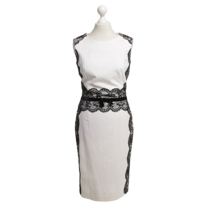 Rena Lange Sheath Dress in Black / White