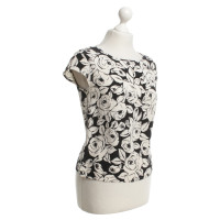 Escada top in black / white